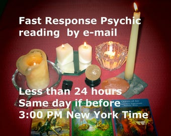 Same Day Psychic Reading,  Angel Tarot Card Reading, One Question,  20 - 30 minute reading, Tarot Card Reading,  PDF By Email