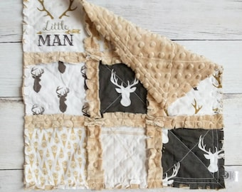 Little Man Rag Quilt Lovey