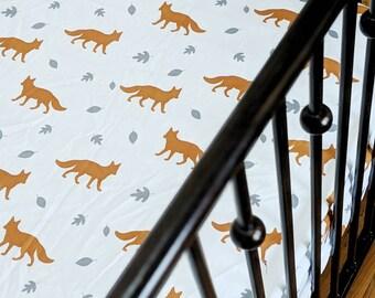 Woodland Fox Fitted Crib Sheet