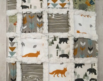 Woodland Fox Minky Rag Quilt