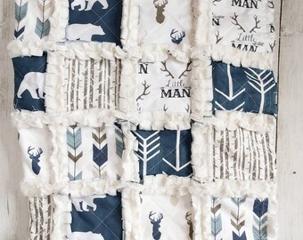 Navy Little Man Rag Quilt