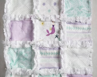 Lavender and Mint Mermaid Quilt