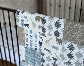 Safari Animal Minky Blanket