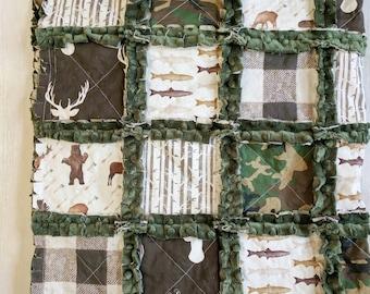 Camo Quilt - Camoflauge Bedding - Rustic Baby Bedding - Rustic Quilt - Deer Quilt - Moose Quilt - Bear Quilt - Camoflauge Blanket