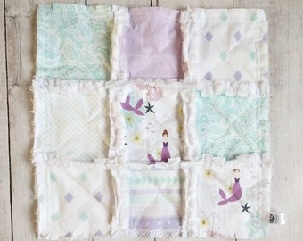 Lavender & Mint Mermaid Minky Lovey