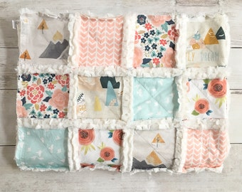 Floral Mountain Minky Rag Quilt