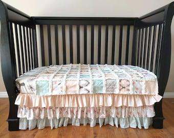 Pastel Woodland Crib Bedding