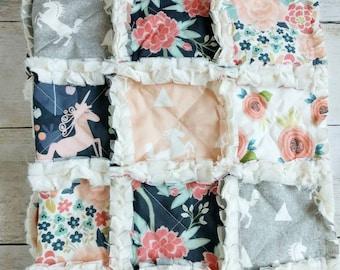 Unicorn Minky Rag Quilt