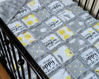 You Are My Sunshine Baby Quilt