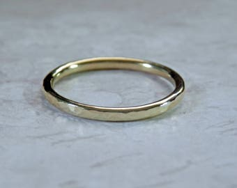 18K Gold Wedding Band Stacking Gold Ring