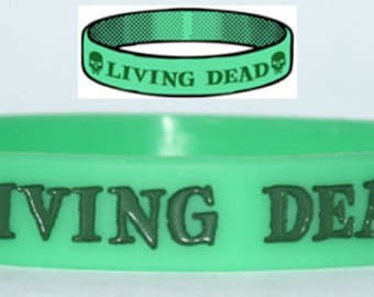 Living Dead Wristband Walking Dead Zombie Evil Dawn Day Night Undead Skull TW017
