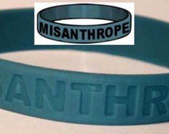 Misanthrope Wristband Hatred Distrust Contempt Naïve Optimism Antisocial TW012