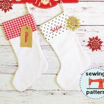 Christmas Stocking PDF sewing pattern, instant download, Kringle Christmas Stocking, beginner friendly sewing pattern, sewing pattern