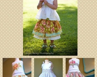 Edith Twirl Skirt PDF Sewing Pattern Instructions for Girls 2T - 6 ... girls skirt sewing pattern , instant download pdf, twirly skirt ebook
