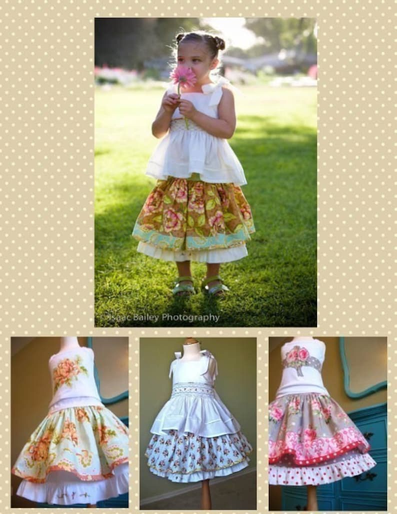 Edith Twirl Skirt PDF Sewing Pattern Instructions for Girls 2T image 0