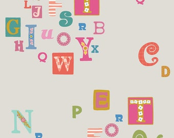 As Easy as ABC Fabric, Mister Domestic Playroom, Art Gallery Fabrics, Quilting Fabric, Modern Fabric, Mr Domestic