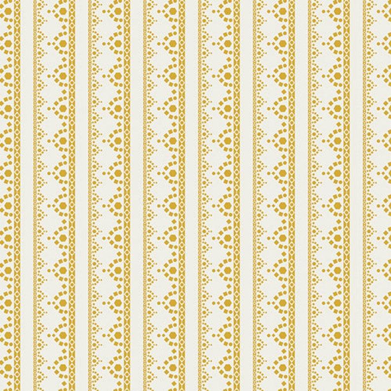 Lace Edge Golden Fabric Millie Fleur Fabric Art Gallery image 0