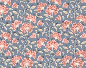 PRE-ORDER TILDA Windy Days Fabric- Stormy Blue, Tilda's world Yardage, Tilda Quilt Fabric , By the Yard, Tilda fabrics, TIL100343-V11