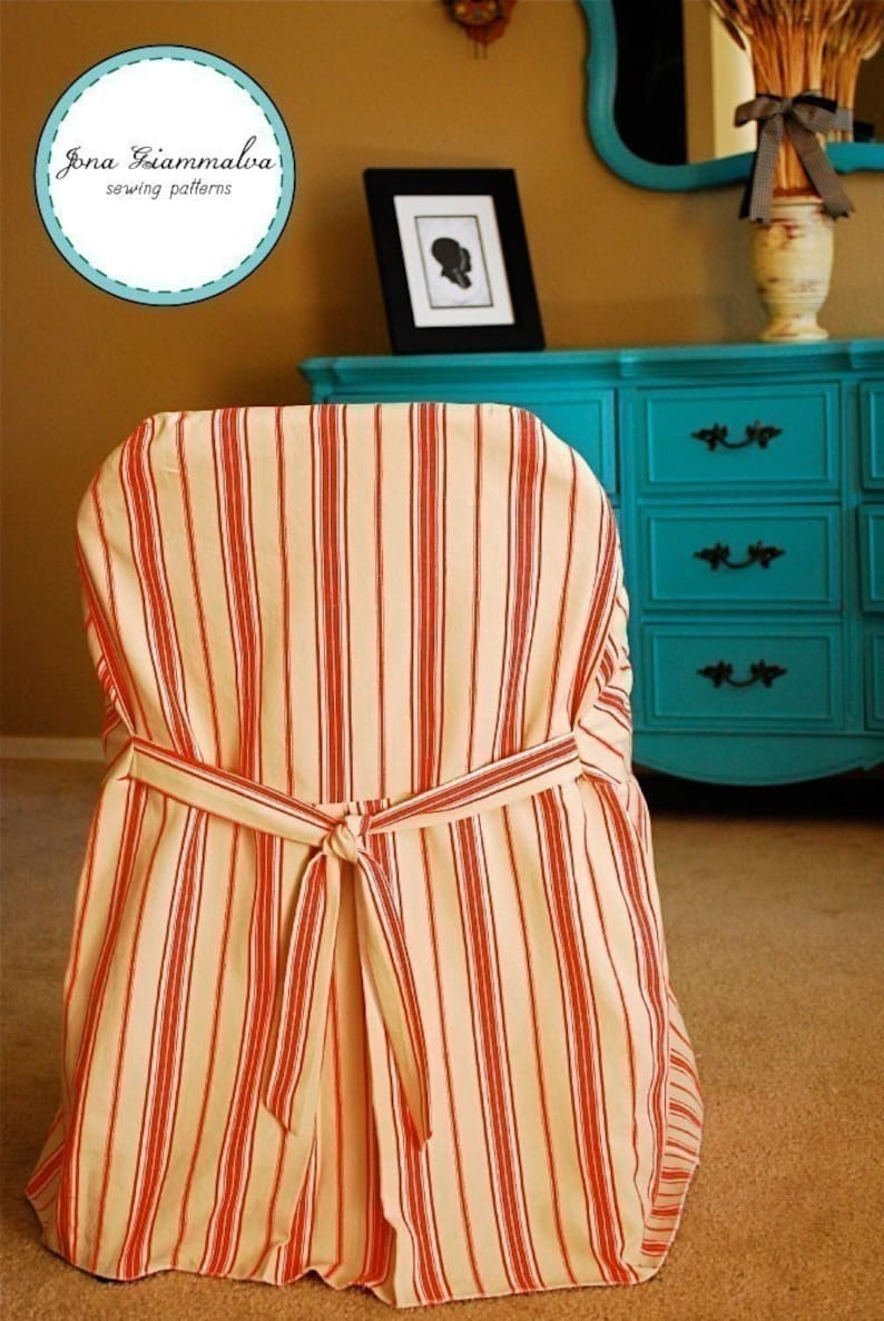 Slipcover Chic Folding Chair Cover PDF sewing pattern e-book image 0