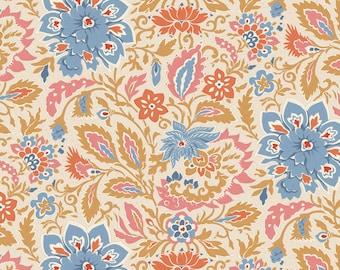 PRE-ORDER TILDA Windy Days Fabric- Skyler Camel, Tilda's world Yardage, Tilda Quilt Fabric , By the Yard, Tilda fabrics, TIL100348-V11