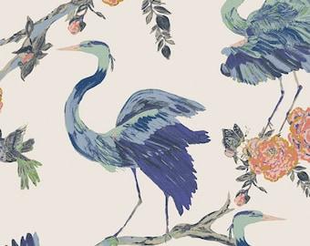 Herons Wisdom Fabric, Eve Fabric by Bari J, Art Gallery Fabrics, Quilting Fabric, Modern Fabric, Bari J, EVE-39802