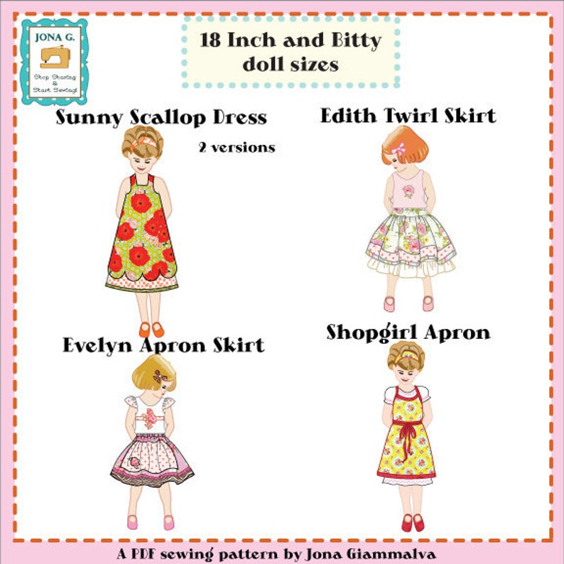 Jona Giammalva Doll Combo 1 4 patterns 18 and baby image 0
