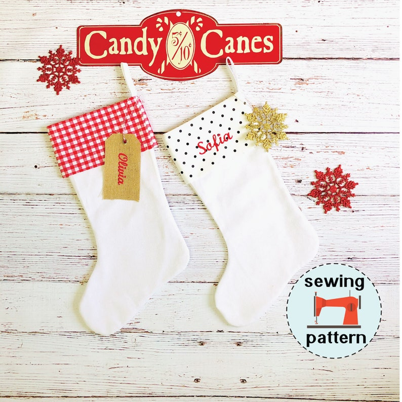 Christmas Stocking PDF sewing pattern instant download image 0