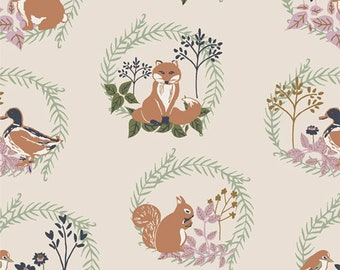 Forest Friends Lilliput Fabric, Sharon Holland Lilliput Fabric, Art Gallery Fabrics, Quilting Fabric, LLP-56702, By-The-Yard