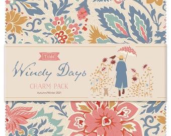 PRE-ORDER TILDA Windy Days Fabric - Charm Pack, Tilda's world Yardage, Tilda Quilt Fabric, Tilda fabrics, TIL300120