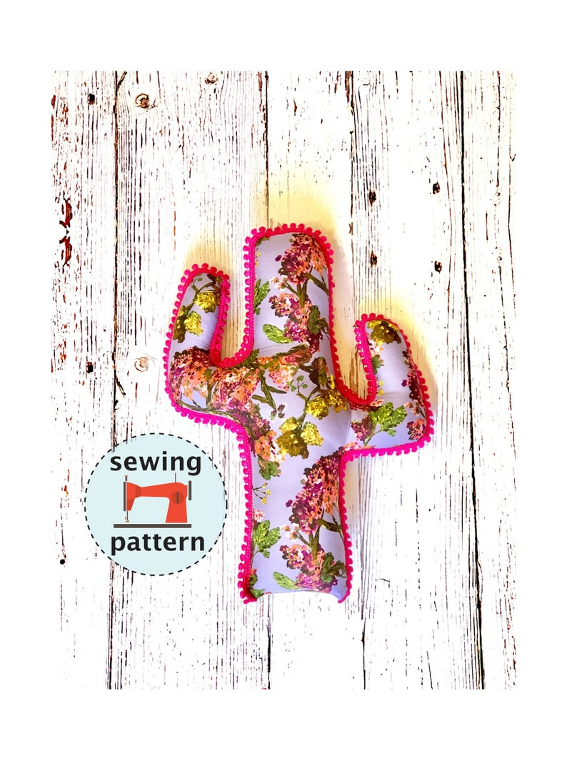 Cactus Cuddler Sewing Pattern PDF Instant Download  Plush image 0