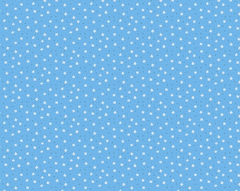 Calico Blue Fabric, Blue Calico Garden Jubilee Fabric by Phoebe Wahl for Figo Fabric,Quilting Cotton, Fabric by Figo, Quilt Fabric, 90417-42