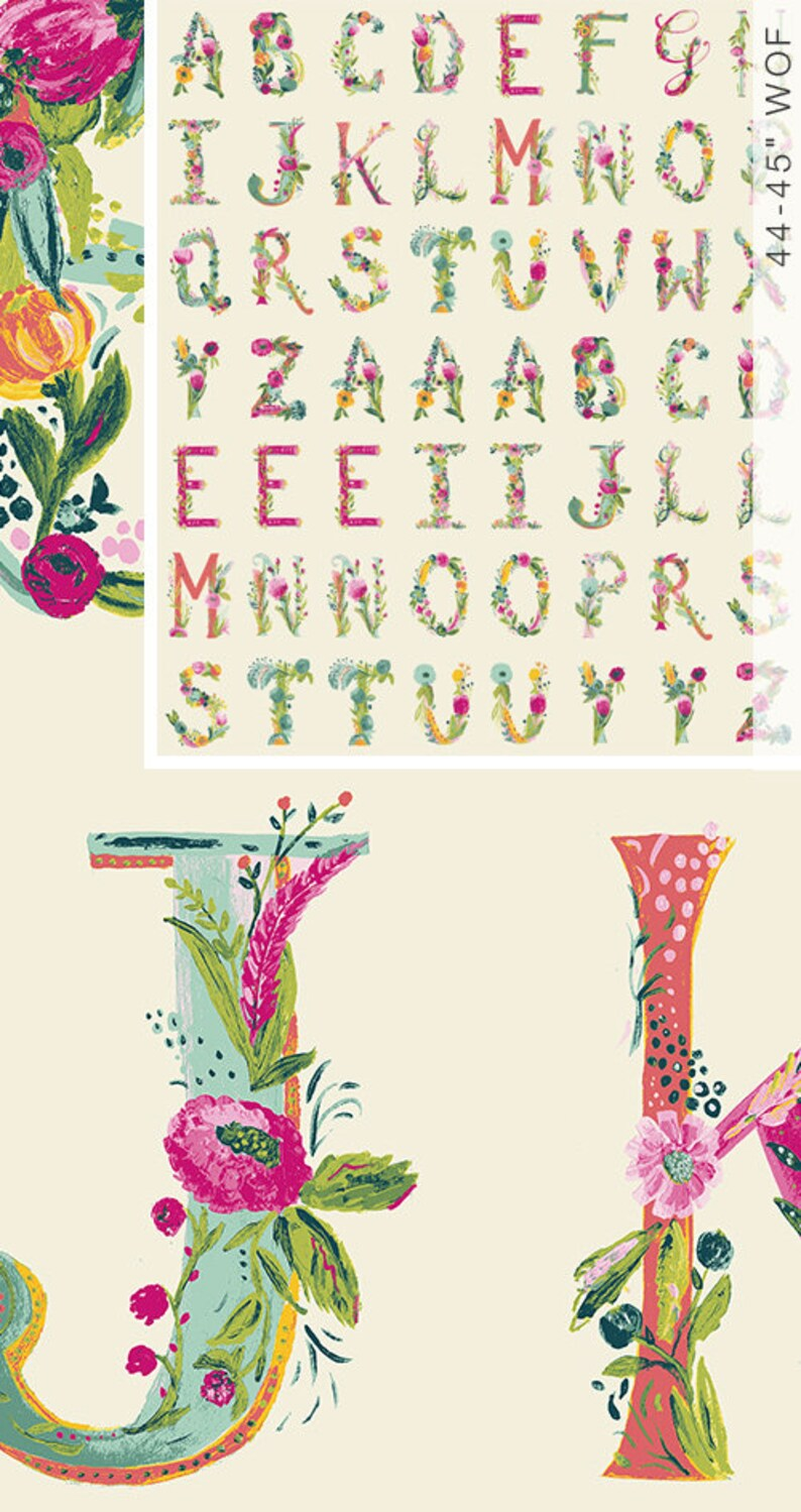Joyeux Alphabet Panel Joie de Vivre Fabric Art Gallery image 0