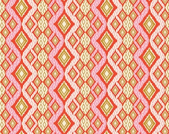 Exotic Bandana Ruby Fabric, Eve Fabric by Bari J, Art Gallery Fabrics, Quilting Fabric, Modern Fabric, Bari J, EVE-29807