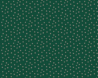 Calico Green Fabric, Green Calico Garden Jubilee Fabric by Phoebe Wahl for Figo Fabric,Quilting Cotton, Quilt Fabric, 90417-76