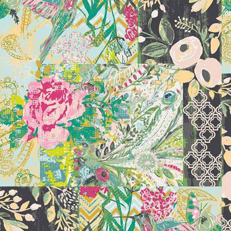 Collage Poise Glam Fabric Millie Fleur Fabric Art Gallery image 0