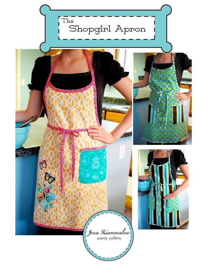 Shopgirl Apron PDF Sewing Pattern downloadable e-book Child image 0