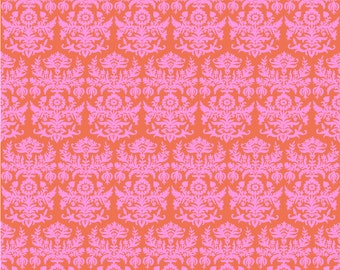 Matthew Orange Fabric, Happy Camper Fabric by Jennifer Paganelli for RB Studios, Quilting Cotton, Quilt Fabric, by the yard, 2505-01