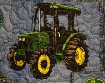 SALE John Deer Baby Quilt. size 36x42