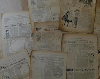 Patterns of Bleuette  1925s pack, Vintage ephemera, Bullet journal, Junk journal - dress and coats patterns