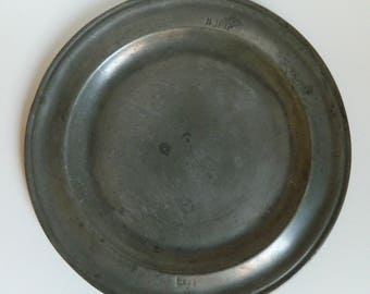17th Or 18th Century Pewter Plate   Pewter Plate With Manufactureru0027s Mark