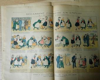 Antique French Girl magazine lot of 3 // 1937 // La Semaine de Suzette Magazine //  pattern