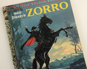 1958 Walt Disney's Zorro - A Little Golden Book - A Edition