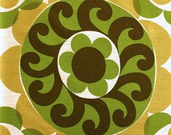 1970s Vintage Fabric - Aristo - Big Flowers - Mid Century Home Decor Fabric 120x120 cm