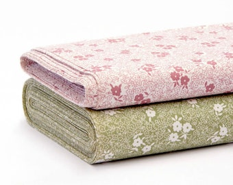 Floral Cotton Fabric by the Metre - 70s Vintage fabric available in two colors
