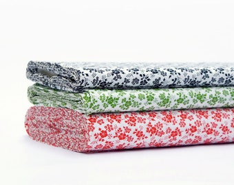 70s Floral Vintage Fabric by the Metre   Cotton DEKOPUS fabric available in three colors.