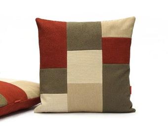 """EllaOsix - Modern Color Block Pillow Cover 45x45 cm / 18""""x18"""""""