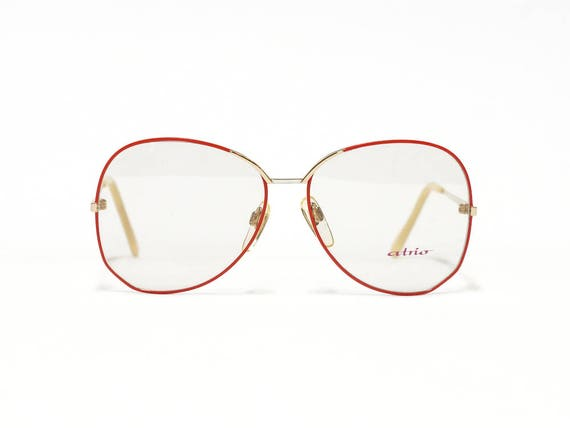 Red Vintage Eyeglasses ATRIO Round EyeGlass Frame German | Etsy