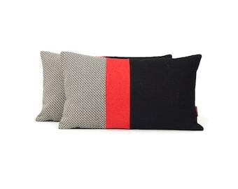 Modern Luxury Lumbar Accent Pillow 12x20 Handmade by EllaOsix