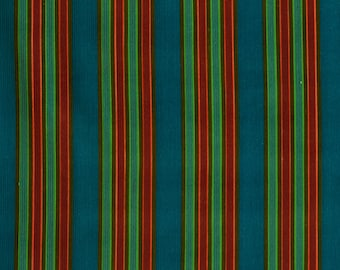 Striped Vintage Corduroy Fabric - Cotton Fashion Fabric - new old stock condition - sold by the meter