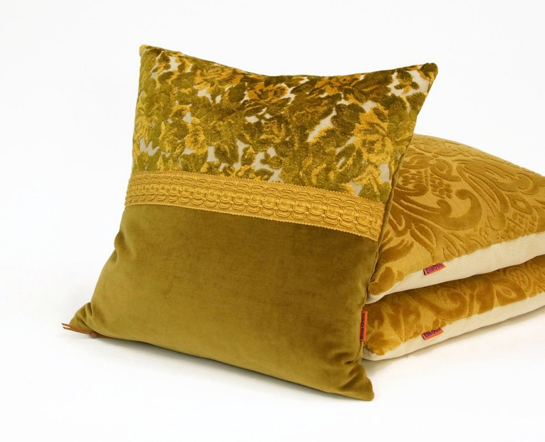 EllaOsix  Green Raised Floral Velvet Pillow Cover with image 0